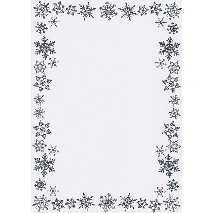 Snowflake Border Writing Paper