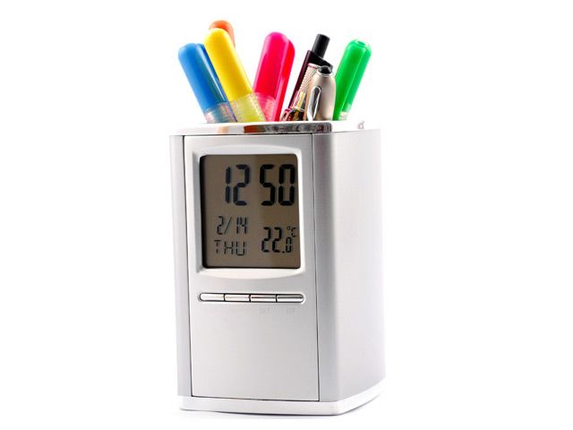 Metal Clock Stationery Holder at Office accessories | Ignition Marketing Corporate Gifts