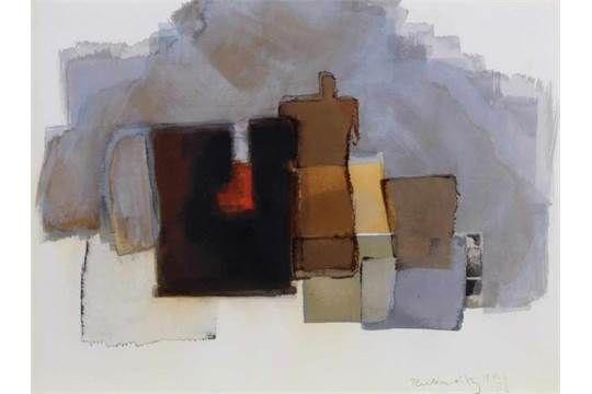 Reckewitz, Wilfried (1925 Wuppertal-Barmen - 1991, Schüler der Werkkunstschule Barmen und der KA