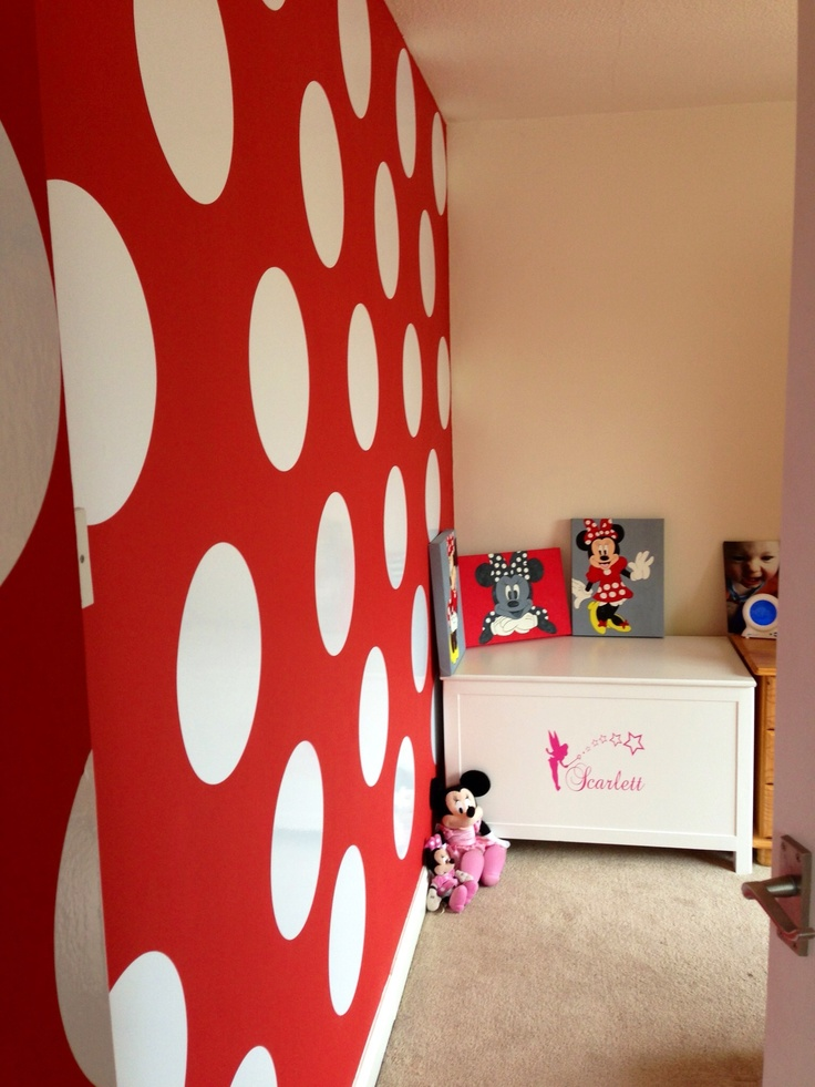 25079 best disney decor images on pinterest disney for Kitchen colors with white cabinets with polka dot wall art