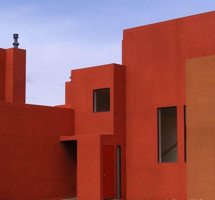 368 best images about luis barrag n y los colores de for Arquitectura minimalista casas