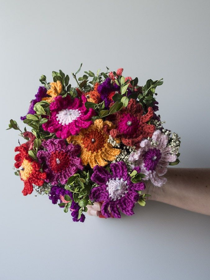 Hæklet brudebuket -  Bridal bouquet crochet