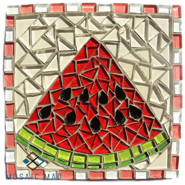 Mosaic Mad D.I.Y. Project- WATERMELON 15X15cm http://www.mosaicmad.com/shop/en/mosaic-kits-/5138-mosaic-project-watermelon.html