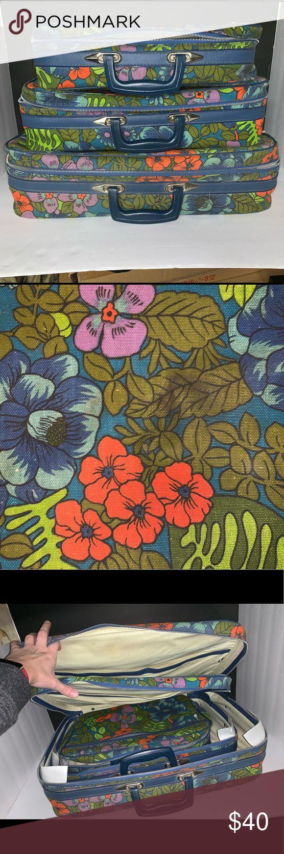 Vintage Koffer 3er Set Vintage Koffer 3er Set Wunderschönes Blumenmuster …