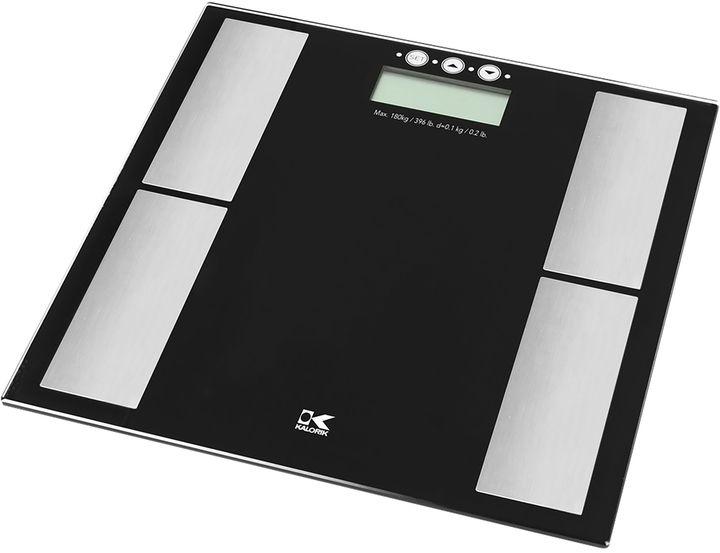 Kalorik Black Electronic Scale with Body Fat Analyzer