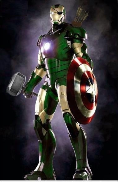 Almost Perfect Iron Man Suit Green For The Hulk Quiver Of Arrows