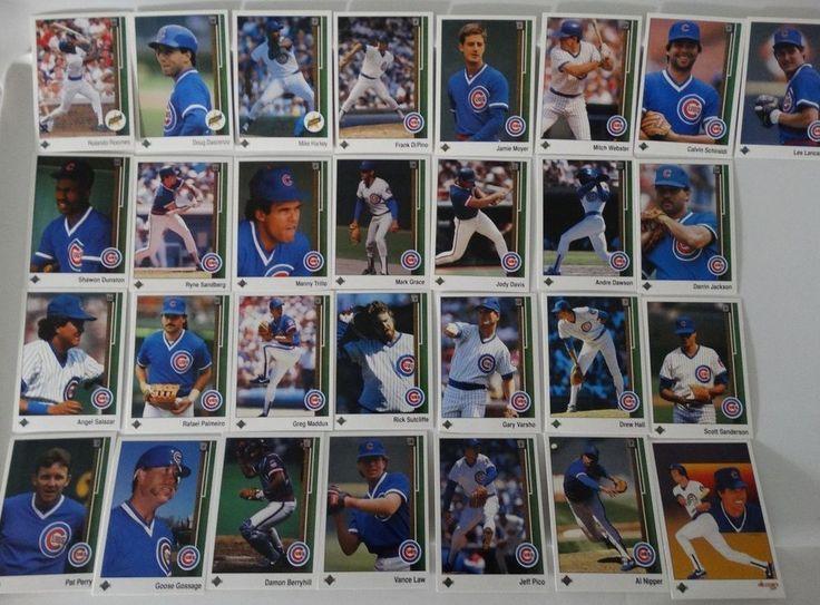 1989 upper deck ud chicago cubs team set of 29 baseball