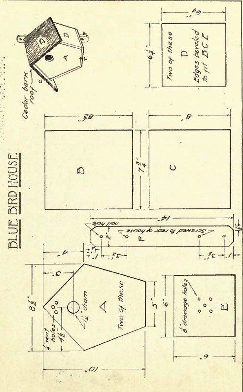 Antique Birdhouse Plans | Ruby Canoe