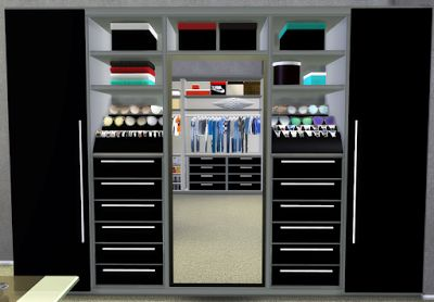 Nicol600's Walk In Closet Recolor by HyperSimsitive TS4
