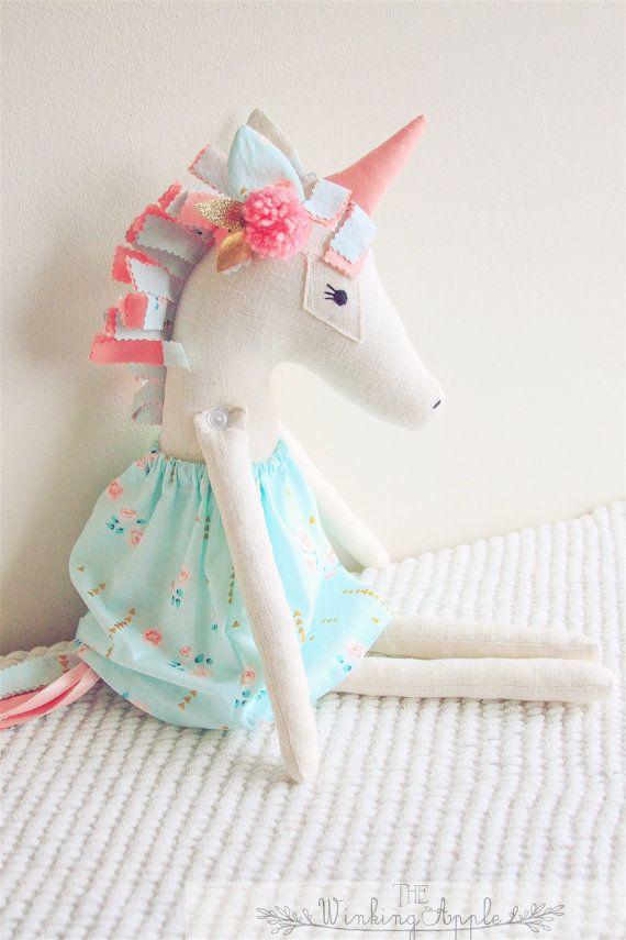 Unicorn Doll by TheWinkingApple on Etsy