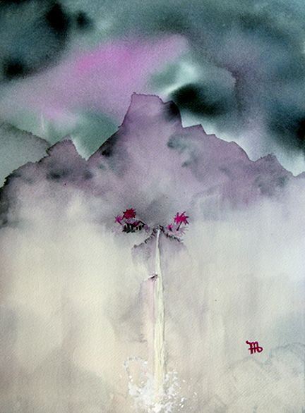 Ric Madden,Japanese Watercolor lanscape style painting