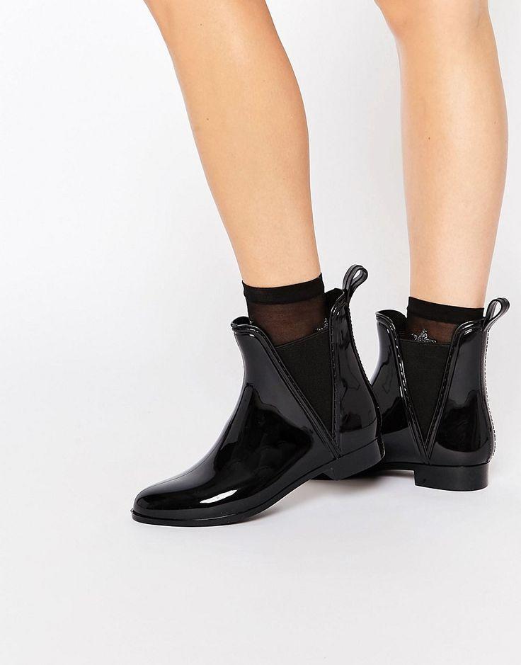 Immagine 1 di Glamorous - Stivali da pioggia Chelsea neri