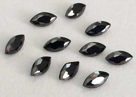 WHOLESALE 500 Pcs 1.5x3mm Black Cubic Zirconia by gemsforjewels