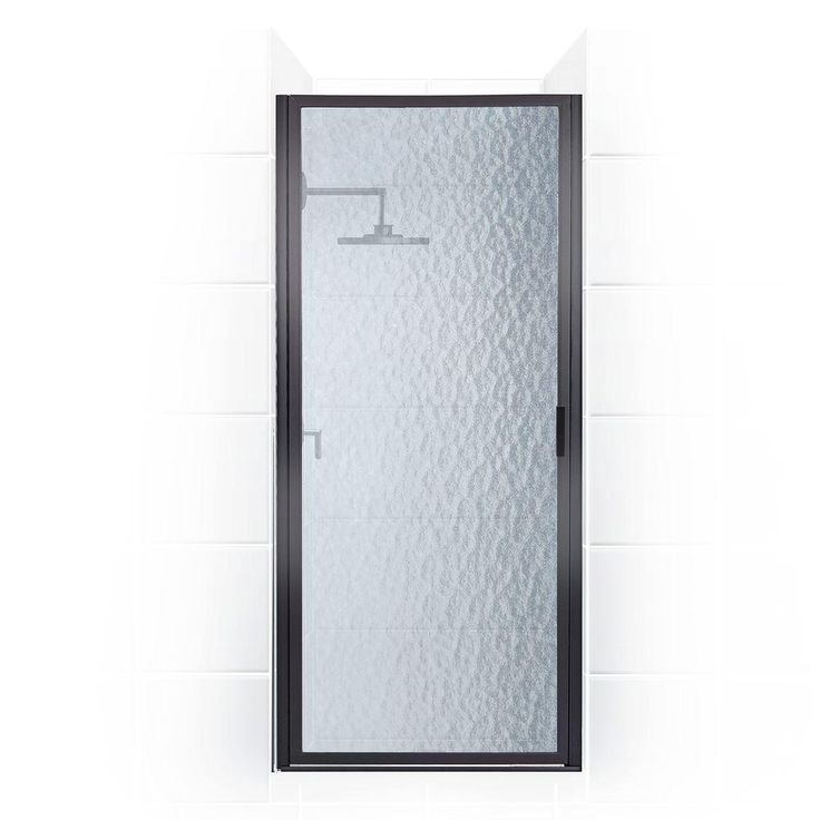 Coastal Shower Doors Paragon Series 35 in. x 65 in. Framed Continuous Hinged Shower Door in Oil Rubbed Bronze with Aquatex Glass