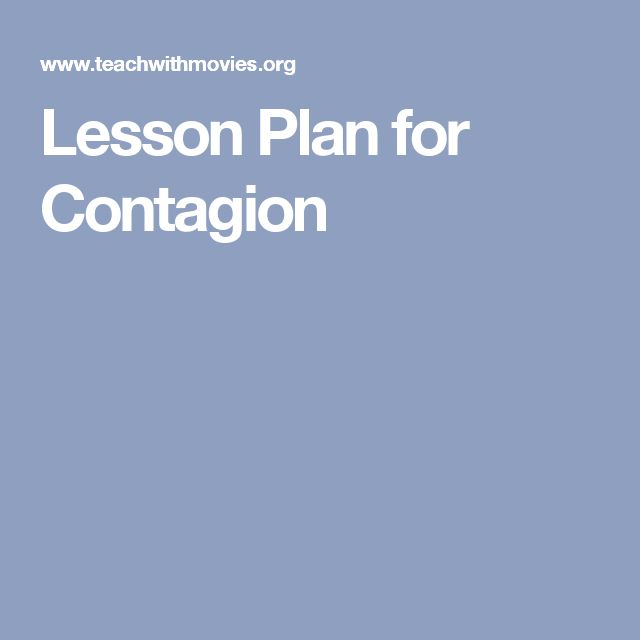 Lesson Plan for Contagion