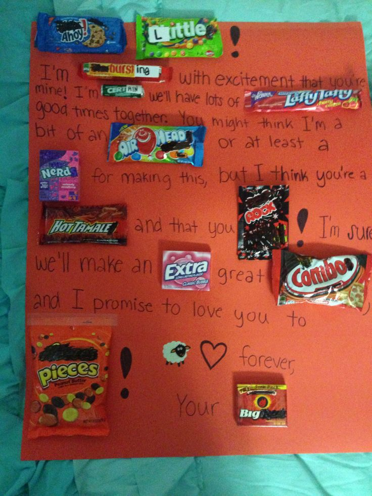 Big/little candy puns poster