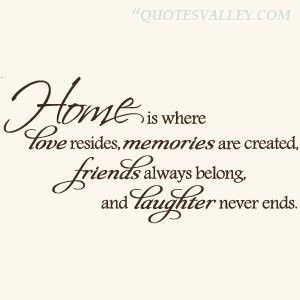 home-is-where-love-resides-memories-are-creathed - Home Quotes and Sayings: