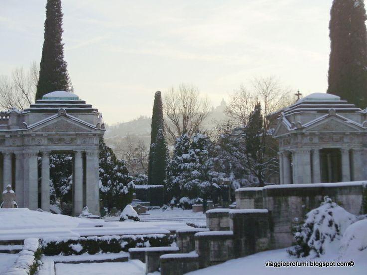 La Certosa di Bologna, dopo l'ultima nevicata