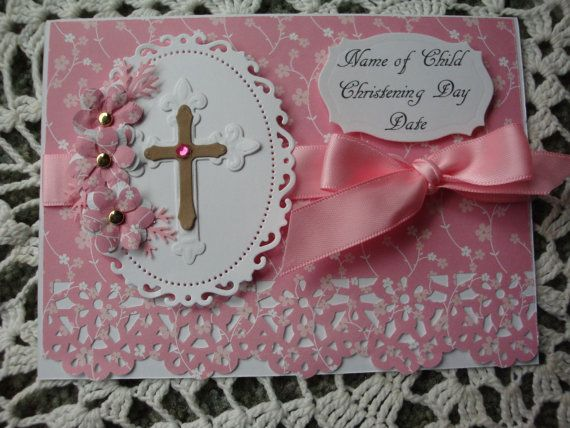 Personalized Christening Card Baptism Card For by CardsbyEileen