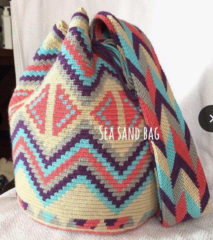"23 Likes, 1 Comments - Seasandbag (@seasandbag) on Instagram: ""New in Wayuu พร้อมส่งทุกใบจ้า รุ่น Double Thread #wayuubag #fashionista #fashionbloggers #wayuu…"""