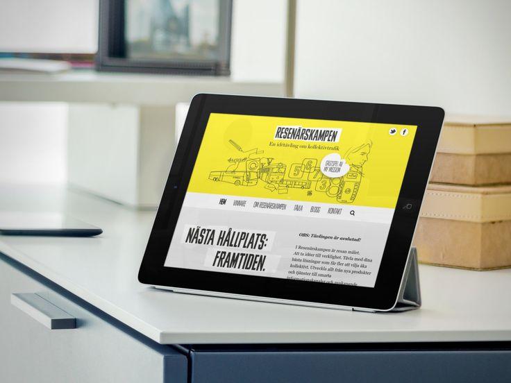web design for Resenärskampen - made by mkmedia - Gothenburg Sweden mkmedia.se
