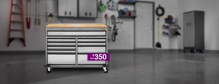 Gladiator provides storage solutions rugged enough for your garage, but stylish enough for any room of your home. Have a look at cabinets, workbenches & more!