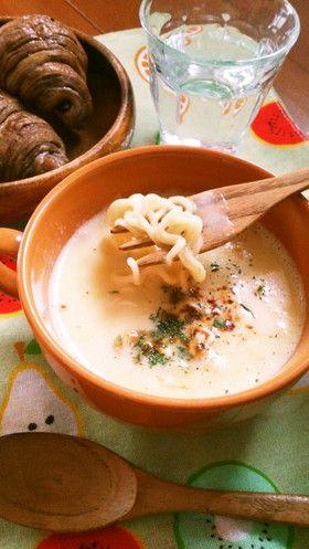 レンジで簡単☆コーンスープ味噌ラーメン。 by ゆぅゅぅ [クックパッド ...