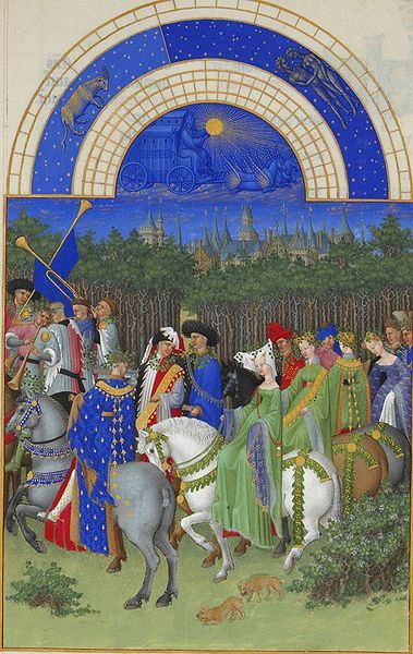 Les très riches heures du duc de Berry - May - Limbourg Brothers, were Dutch painters active during the early 15th c in France