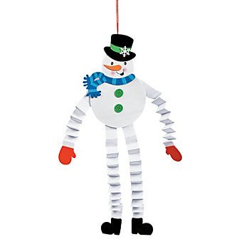 Accordion Snowman Craft Kit