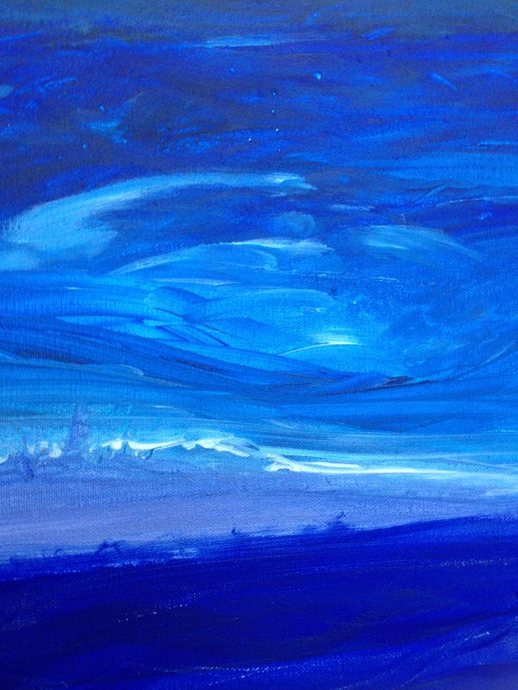 Havs horisont - Akryl på canvas