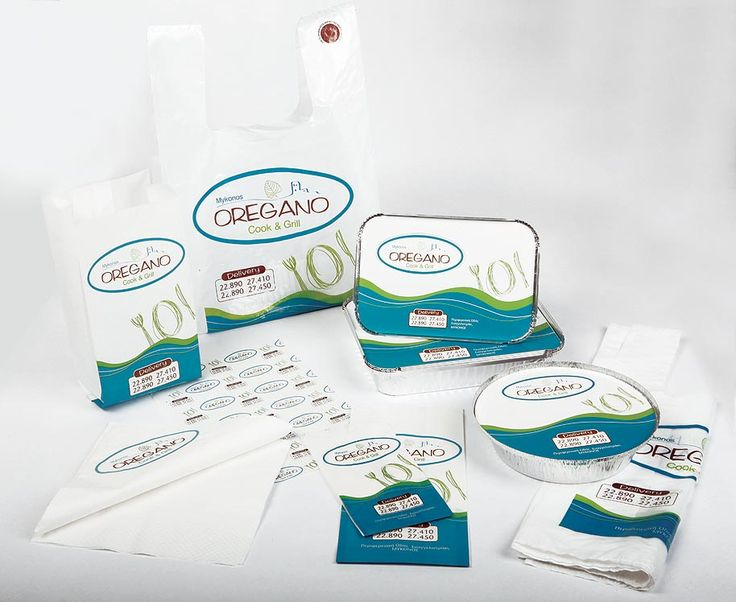 Design and Printing of OREGANO's delivery packaging by ThinkBAG.