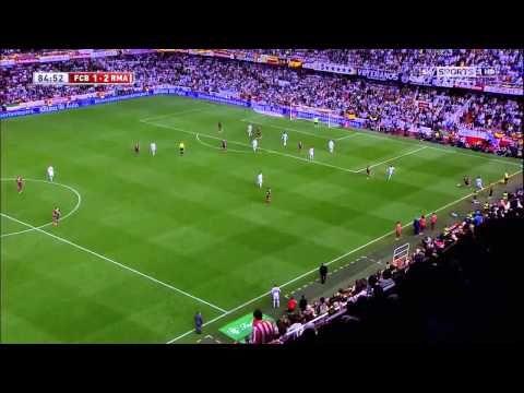 Gareth Bale goal vs FC Barcelona Copa Del Rey Final 2014 English commentary - YouTube