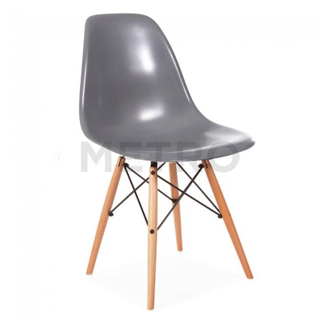 Eames Style Wooden Chair Satin White Eames Style Wooden Chair