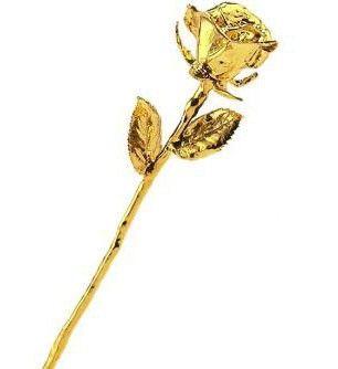 Rosa d'oro 24 carati | Una vera rosa ricoperta d'oro
