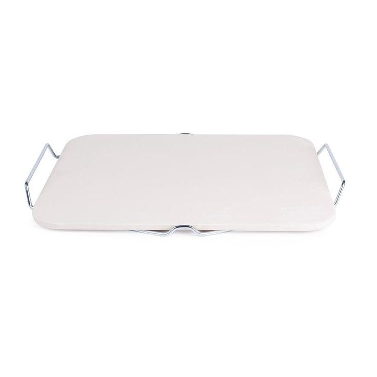Piedra rectangular para pizza con soporte