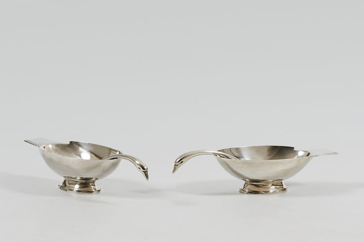Christofle 'Swan' Sauce Boat and Ladel - Michael Mortell Gallery
