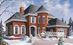 Magnifique maison de style européen, dans un décor d'hiver, on adore!!!! House plan 3403 from DrummondHousePlans.com