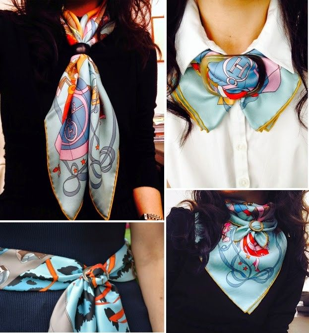 hermes scarf necklace - Google Search