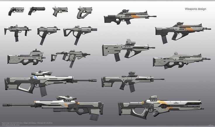 ArtStation - Weapons (Sci-Fi), Maxime BiBi