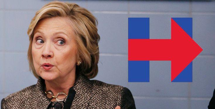 """Logo da campanha de Hillary Clinton à presidência não agradou – """"feito no Paint""""?"""