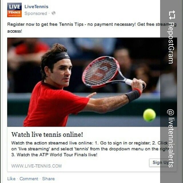 Shout out to our client @livetennisalerts Register now to get free tennis tips!! Join us right now and watch live streaming Tennis Online!! Www.live-tennis.com/signup get the latest news straight from the circuit! #tennis #atp #bet365 #livetennis #sportsbetting #bookies #federer