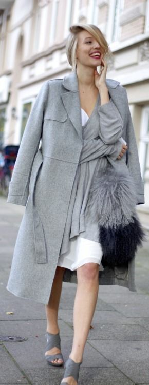 #street #fashion fall / light gray @wachabuy