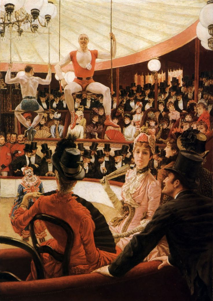 Tissot: The Circus Lover, 1885 (one of the Women of Paris series). Oil on canvas. Museum of Fine Arts, Boston.