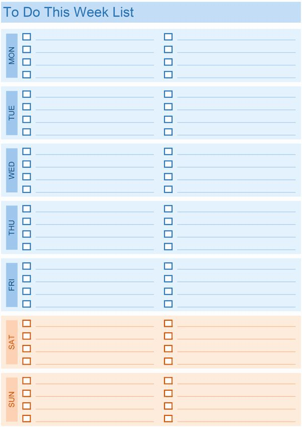 Weekly Todo List Template Luxury Daily To Do List Templates For