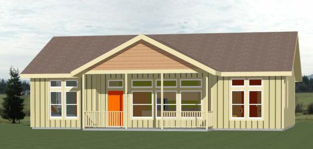 46x30 House 46x30h2a 3 Bedroom 2 Bath Home With 2 Car Garage Sq Ft 1 338 Building Size 46 0 Wide 60 Garage House Plans Shed To Tiny House