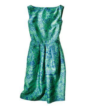 Jules Reid Peony dress  in daisy stream blue.  www.julesreid.com