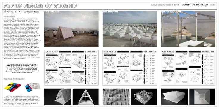 """HONORABLE MENTION REG. NO. 0150 """"Pop Up Places of Worship"""" by Lucas Boyd, Chad Greenlee"""