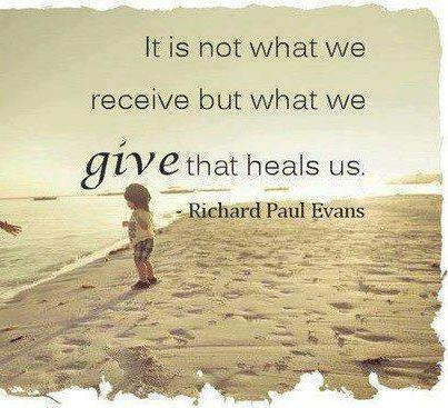 it is in giving that we receive, photo by Richard Paul Evans