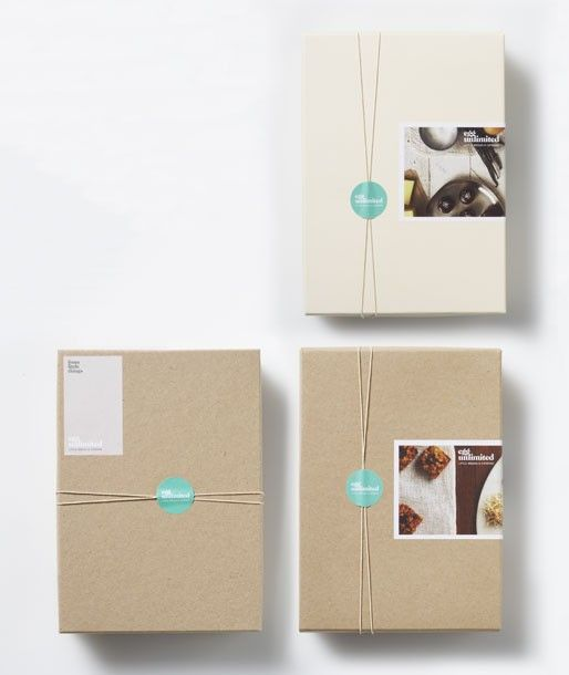 I really like the idea of putting a photographic sticker on a plain piece of packaging.