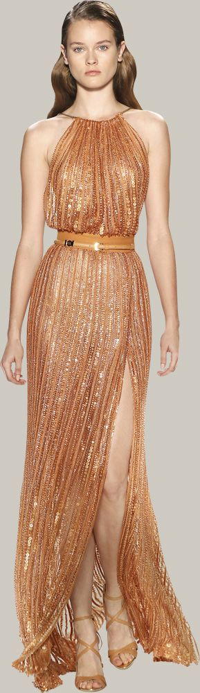 The Look: copper gown